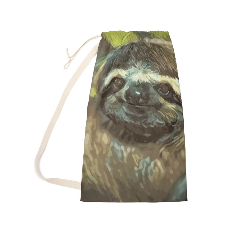 Sloth Accessories Laundry Bag Bag by
