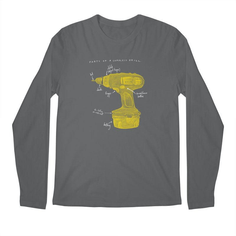 Shop Class Series: Cordless Drill Men's Longsleeve T-Shirt by Shop Class