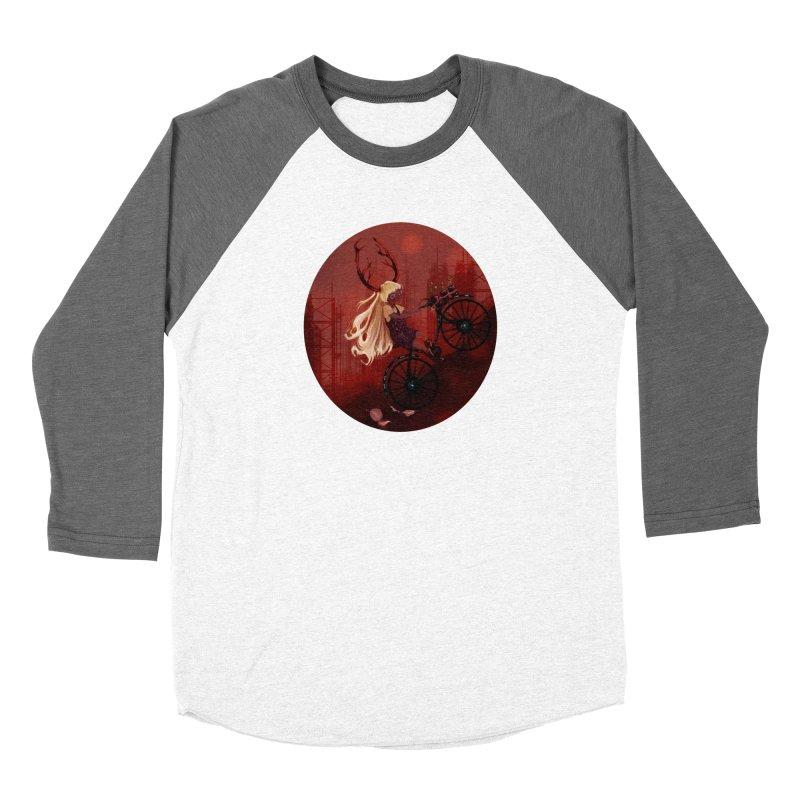 Deer girl on her bike Women's Longsleeve T-Shirt by sawyercloud's Artist Shop