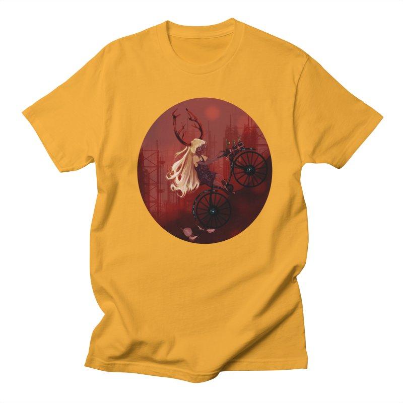 Deer girl on her bike Men's T-Shirt by sawyercloud's Artist Shop