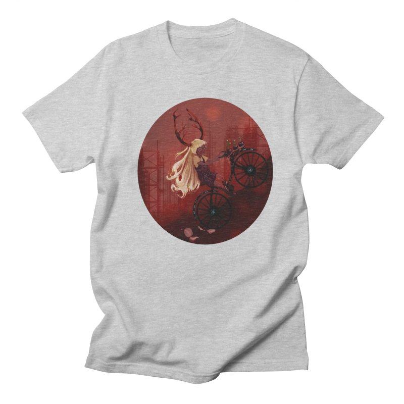 Deer girl on her bike Women's Regular Unisex T-Shirt by sawyercloud's Artist Shop