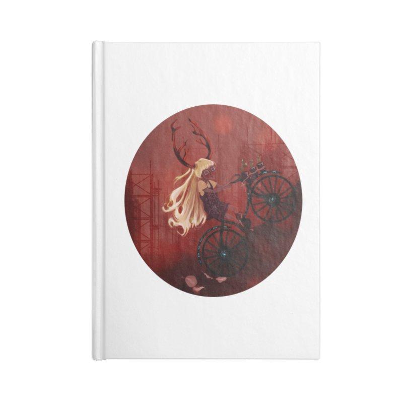 Deer girl on her bike Accessories Notebook by sawyercloud's Artist Shop