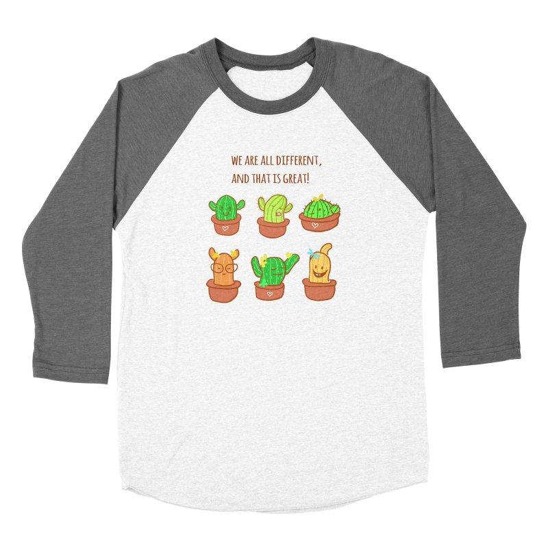 Happy cactus Women's Longsleeve T-Shirt by sawyercloud's Artist Shop