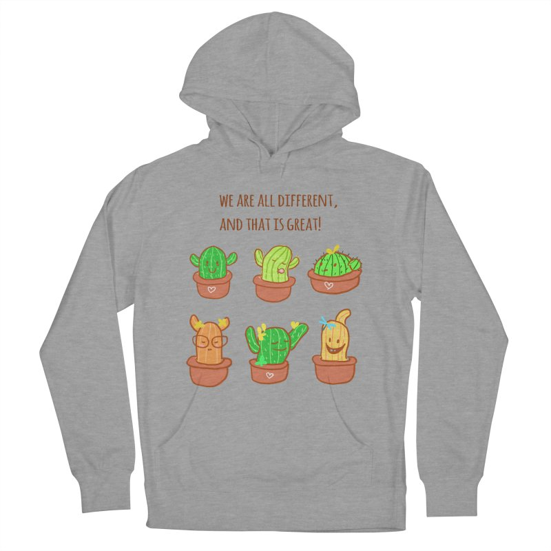 Happy cactus Women's French Terry Pullover Hoody by sawyercloud's Artist Shop
