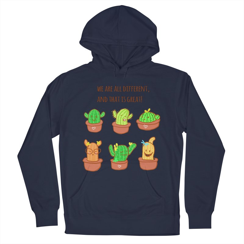 Happy cactus Men's French Terry Pullover Hoody by sawyercloud's Artist Shop