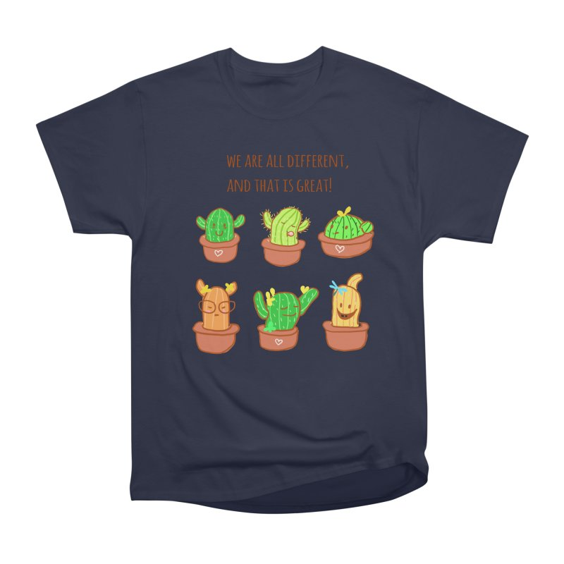 Happy cactus Women's Heavyweight Unisex T-Shirt by sawyercloud's Artist Shop