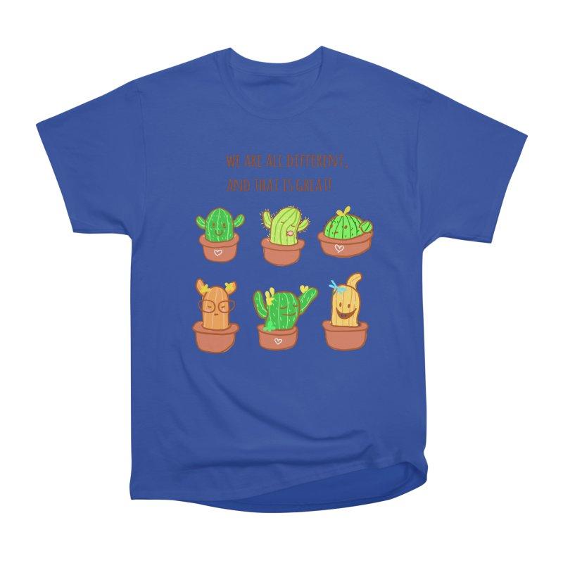 Happy cactus Men's Heavyweight T-Shirt by sawyercloud's Artist Shop
