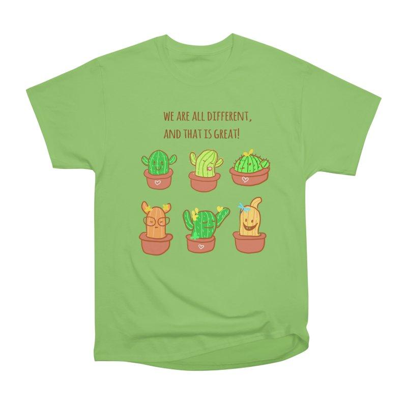 Happy cactus Women's Heavyweight Unisex T-Shirt by sawyercloud's Artist Shop