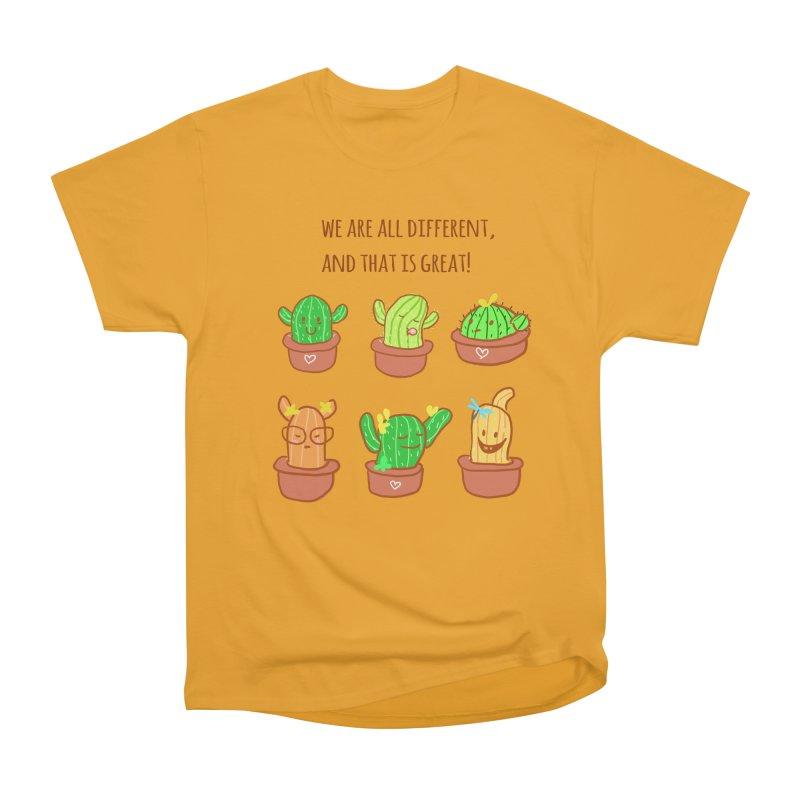 Happy cactus Men's Classic T-Shirt by sawyercloud's Artist Shop