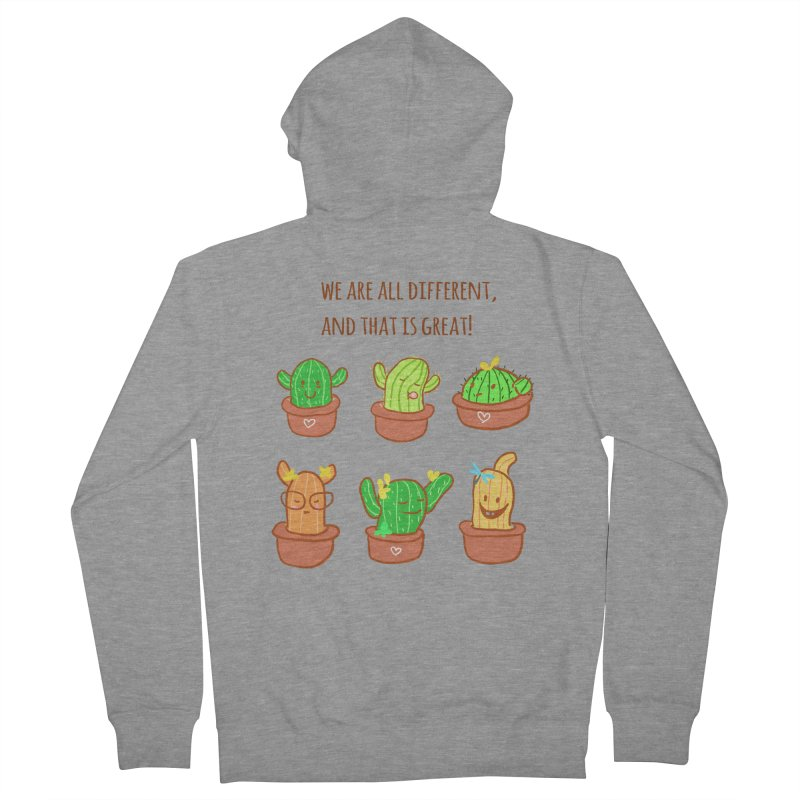 Happy cactus Women's French Terry Zip-Up Hoody by sawyercloud's Artist Shop
