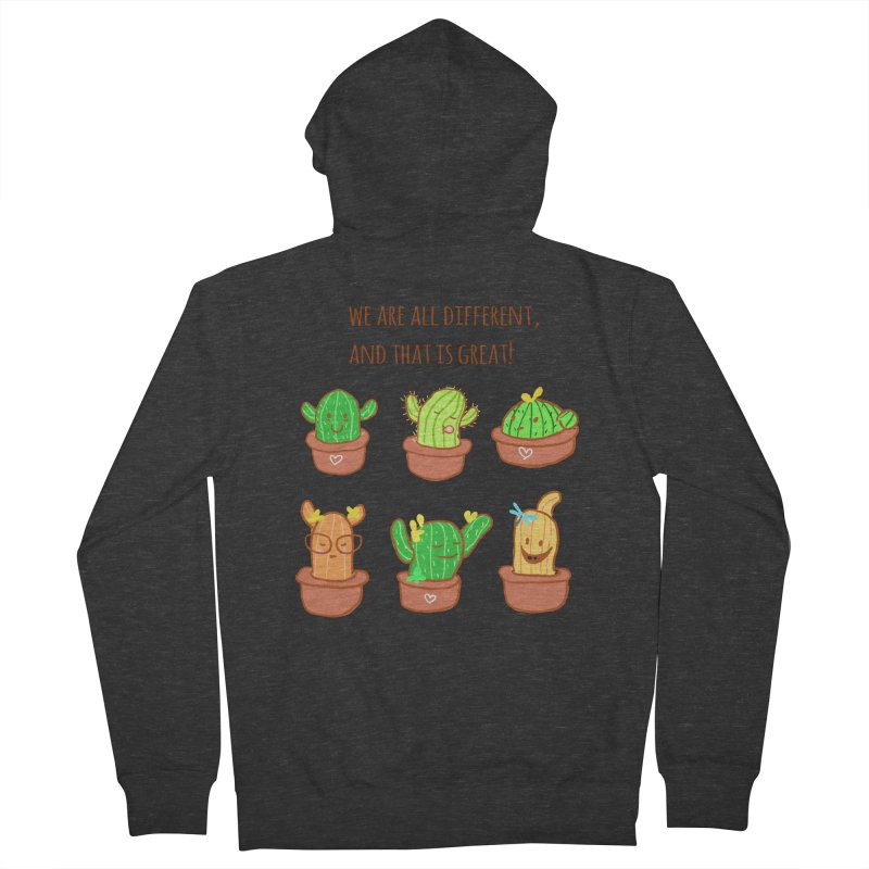 Happy cactus Men's French Terry Zip-Up Hoody by sawyercloud's Artist Shop
