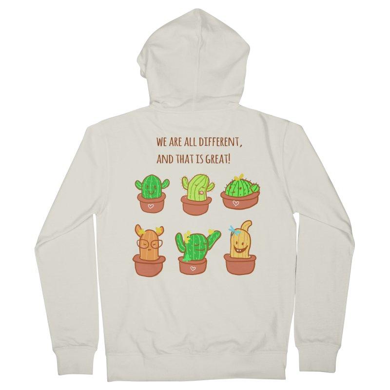 Happy cactus Men's Zip-Up Hoody by sawyercloud's Artist Shop
