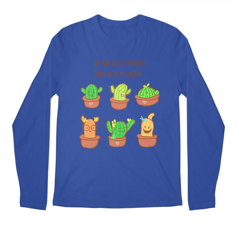 Happy cactus Men's Longsleeve T-Shirt by sawyercloud's Artist Shop