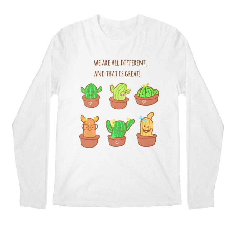 Happy cactus Men's Regular Longsleeve T-Shirt by sawyercloud's Artist Shop