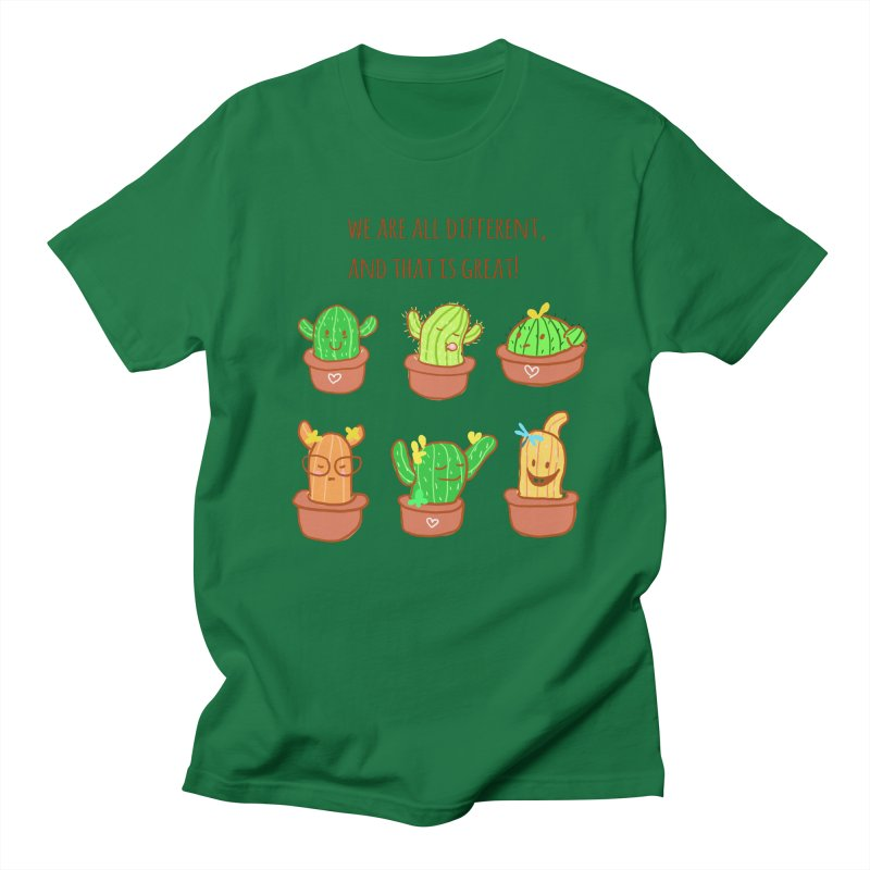 Happy cactus Men's Regular T-Shirt by sawyercloud's Artist Shop
