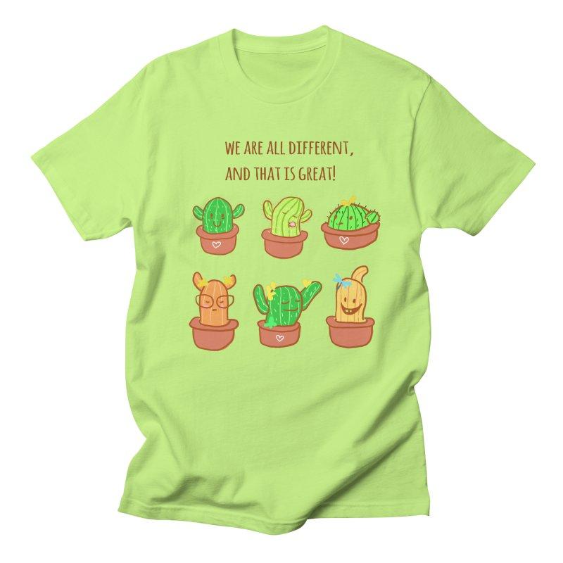 Happy cactus Women's Unisex T-Shirt by sawyercloud's Artist Shop