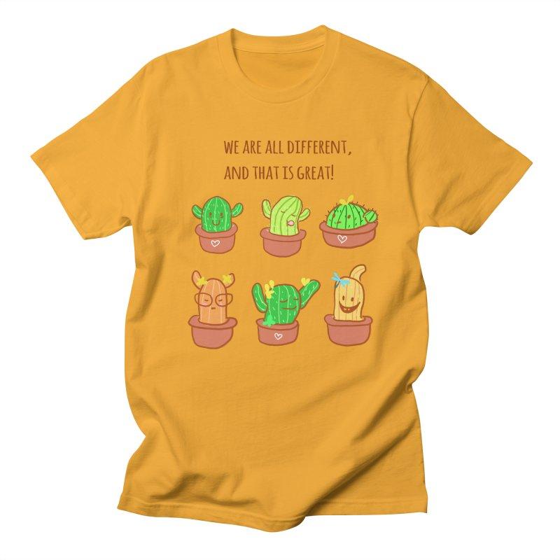 Happy cactus Men's T-Shirt by sawyercloud's Artist Shop