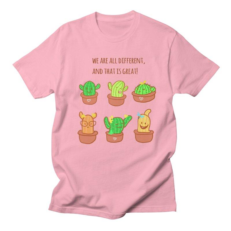 Happy cactus Women's Regular Unisex T-Shirt by sawyercloud's Artist Shop