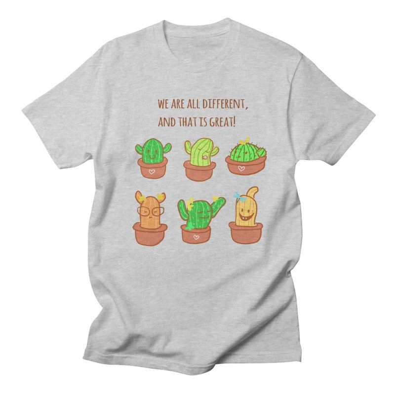 Happy cactus Men's Regular T-Shirt by sawyercloud's Artist Shop