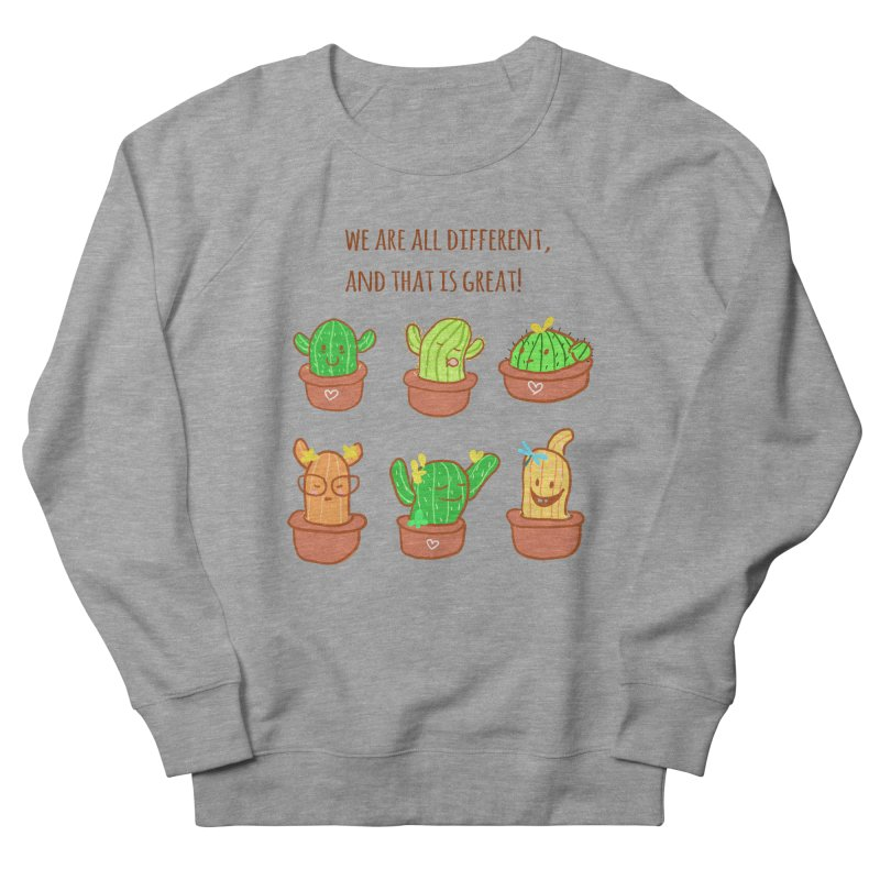 Happy cactus Women's French Terry Sweatshirt by sawyercloud's Artist Shop