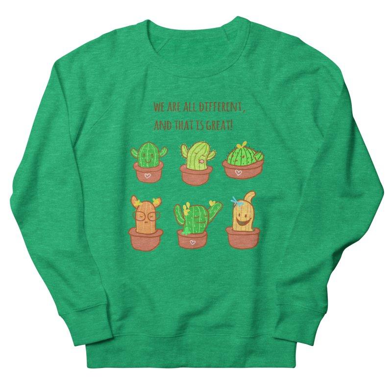 Happy cactus Men's French Terry Sweatshirt by sawyercloud's Artist Shop