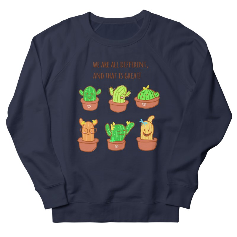 Happy cactus Men's French Terry Sweatshirt by sawyercloud's Artist Shop