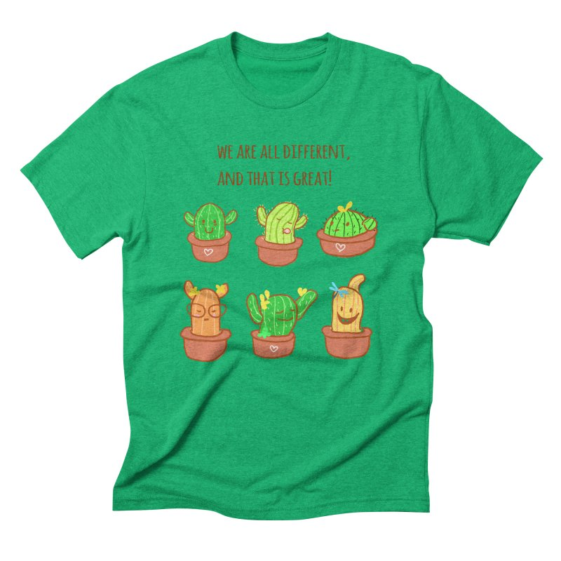 Happy cactus Men's Triblend T-Shirt by sawyercloud's Artist Shop