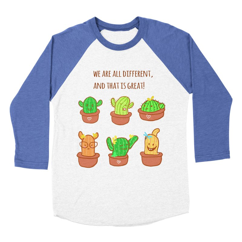 Happy cactus Women's Baseball Triblend T-Shirt by sawyercloud's Artist Shop