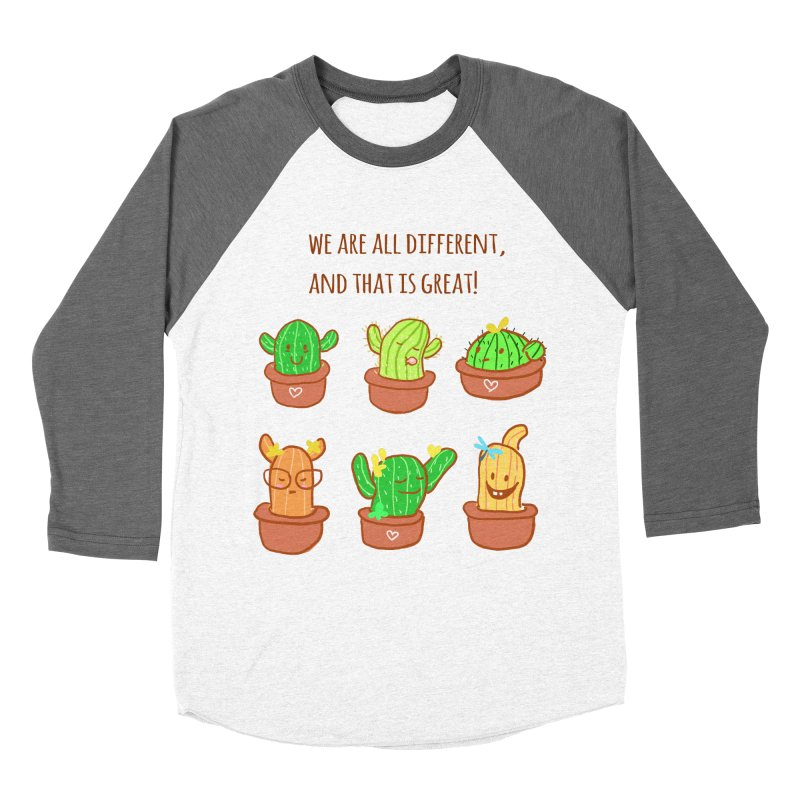 Happy cactus Women's Baseball Triblend Longsleeve T-Shirt by sawyercloud's Artist Shop