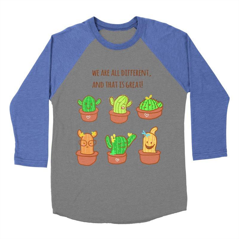 Happy cactus Women's Baseball Triblend Longsleeve T-Shirt by sawyercloud's Artist Shop