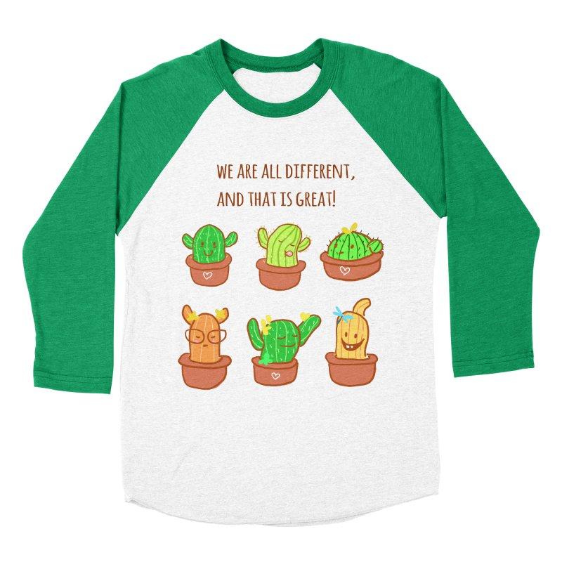 Happy cactus Men's Baseball Triblend Longsleeve T-Shirt by sawyercloud's Artist Shop