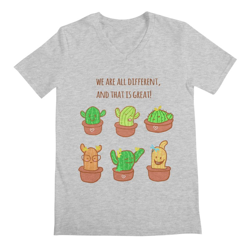 Happy cactus Men's Regular V-Neck by sawyercloud's Artist Shop
