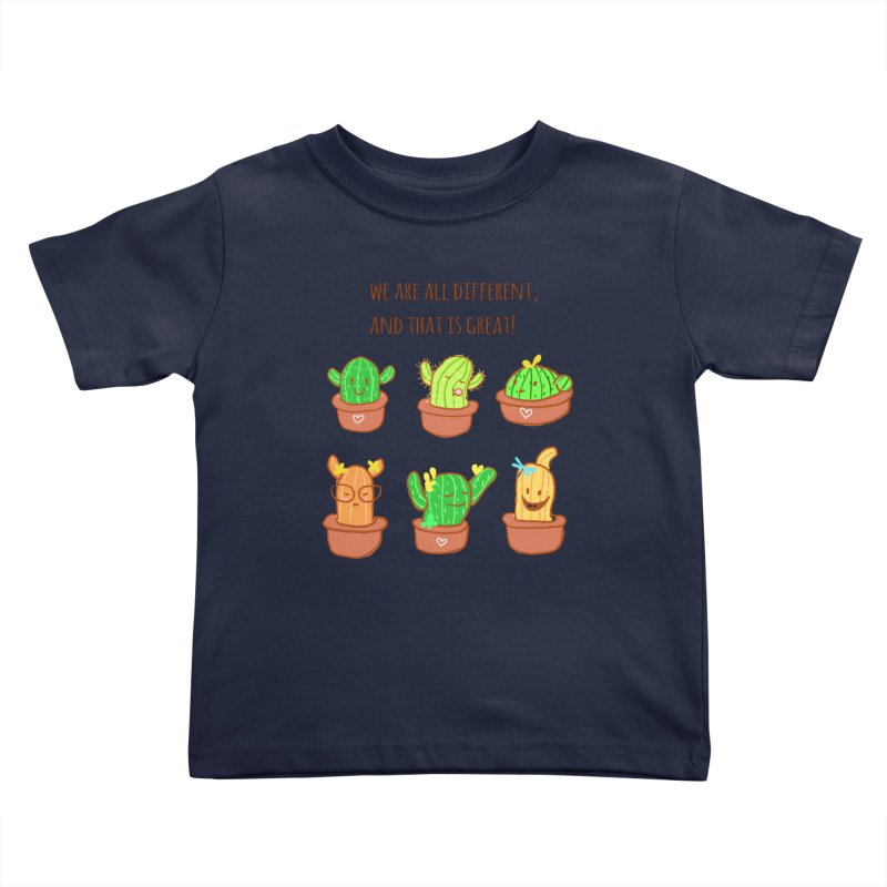 Happy cactus Kids Toddler T-Shirt by sawyercloud's Artist Shop