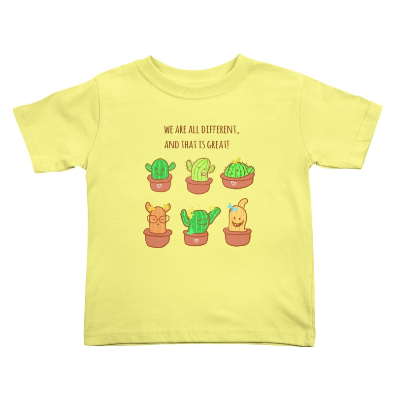 Happy cactus Kids Toddler T-Shirt by sawyercloud's Artist Shop