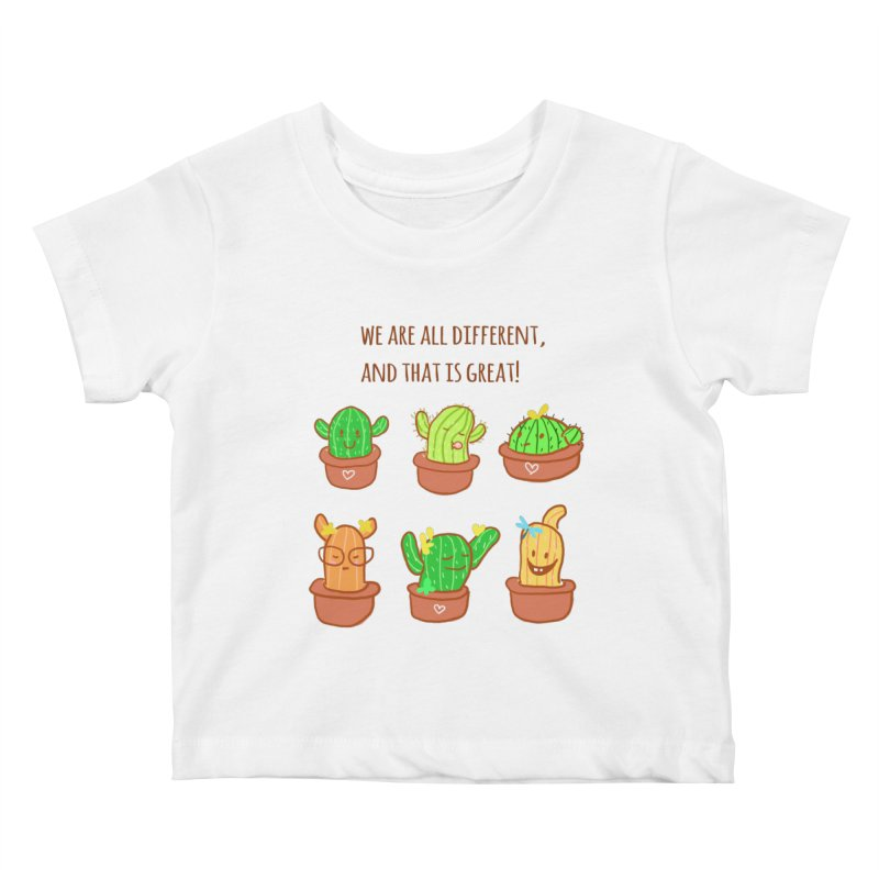 Happy cactus Kids Baby T-Shirt by sawyercloud's Artist Shop