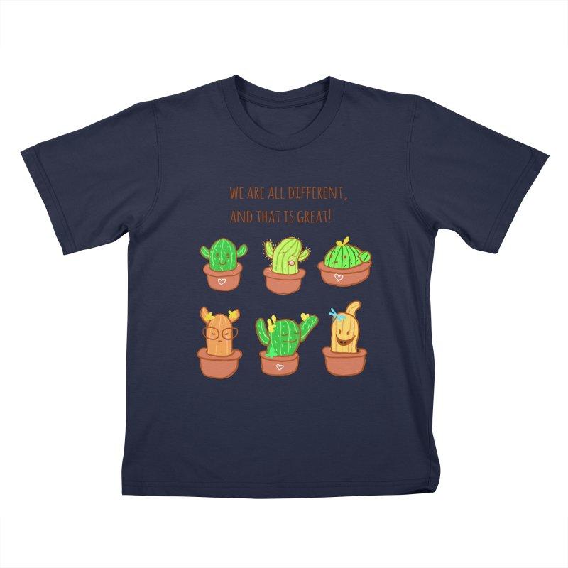 Happy cactus Kids T-Shirt by sawyercloud's Artist Shop