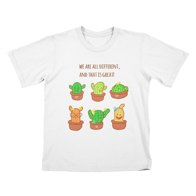Happy cactus Kids T-Shirt by sawyercloud's Artist Shop