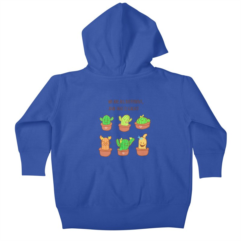 Happy cactus Kids Baby Zip-Up Hoody by sawyercloud's Artist Shop
