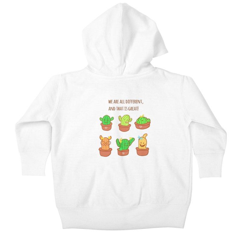 Happy cactus Kids Baby Zip-Up Hoody by sawyercloud's Artist Shop