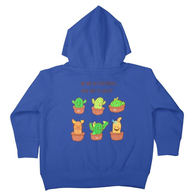 Happy cactus Kids Toddler Zip-Up Hoody by sawyercloud's Artist Shop