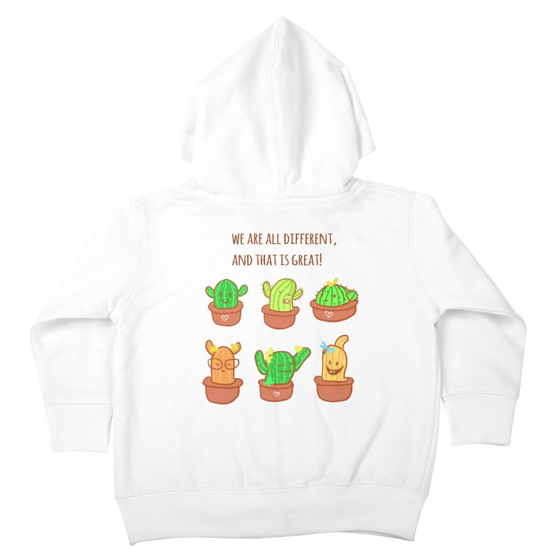 Happy cactus Kids Toddler Zip-Up Hoody by sawyercloud's Artist Shop
