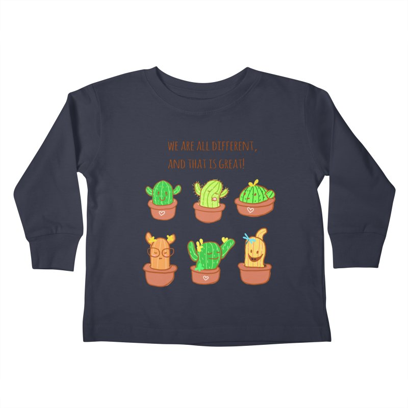 Happy cactus Kids Toddler Longsleeve T-Shirt by sawyercloud's Artist Shop