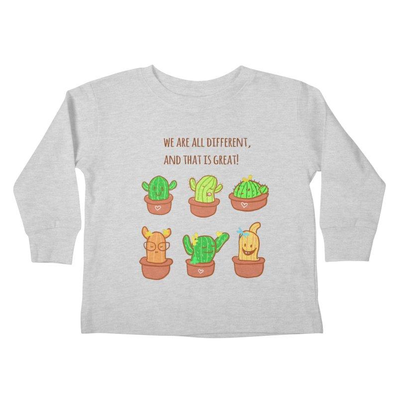 Happy cactus Kids Toddler Longsleeve T-Shirt by sawyercloud's Artist Shop
