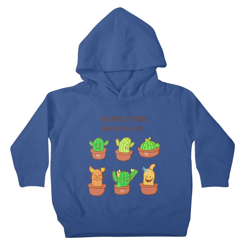 Happy cactus Kids Toddler Pullover Hoody by sawyercloud's Artist Shop