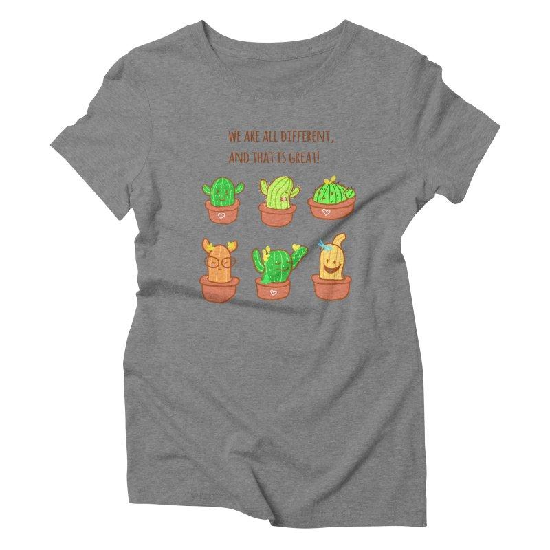 Happy cactus Women's Triblend T-Shirt by sawyercloud's Artist Shop