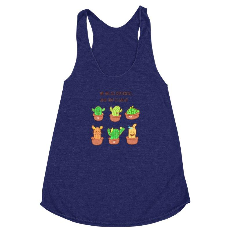 Happy cactus Women's Racerback Triblend Tank by sawyercloud's Artist Shop