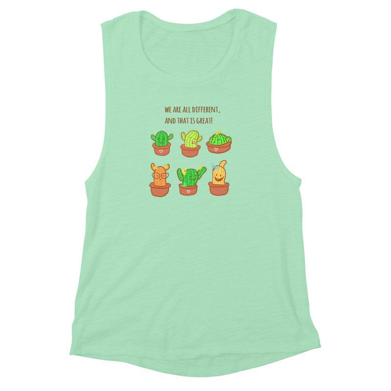 Happy cactus Women's Muscle Tank by sawyercloud's Artist Shop