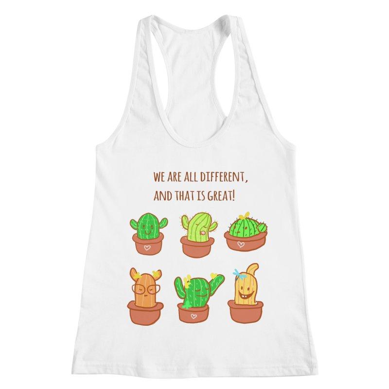 Happy cactus Women's Racerback Tank by sawyercloud's Artist Shop