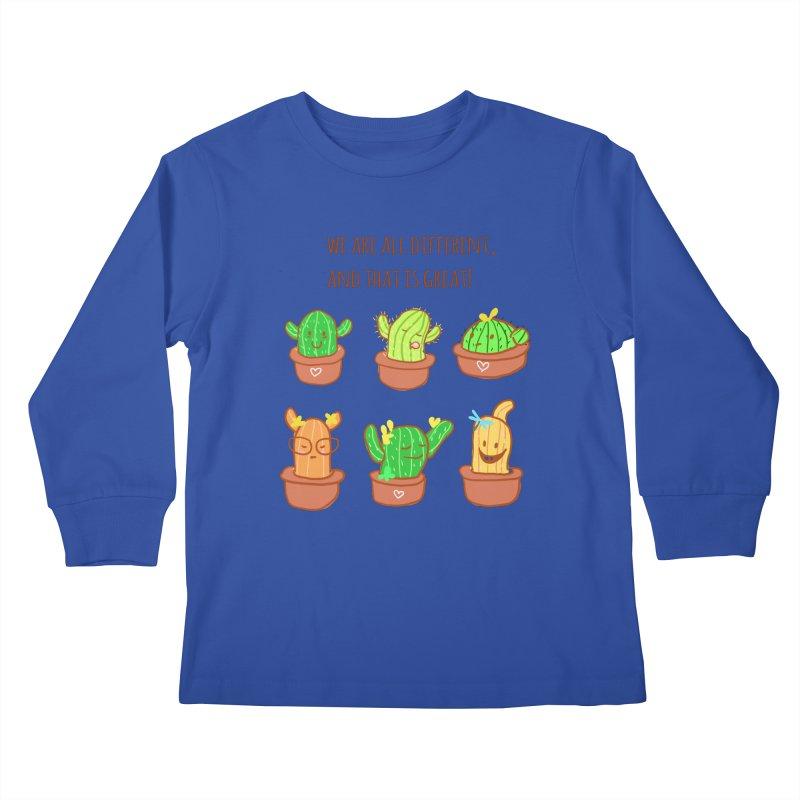 Happy cactus Kids Longsleeve T-Shirt by sawyercloud's Artist Shop