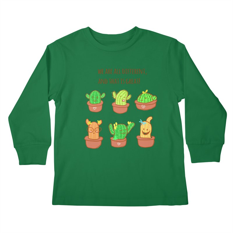 Happy cactus Kids Longsleeve T-Shirt by sawyercloud's Artist Shop